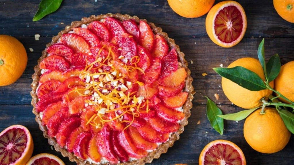Blood orange no bake tart