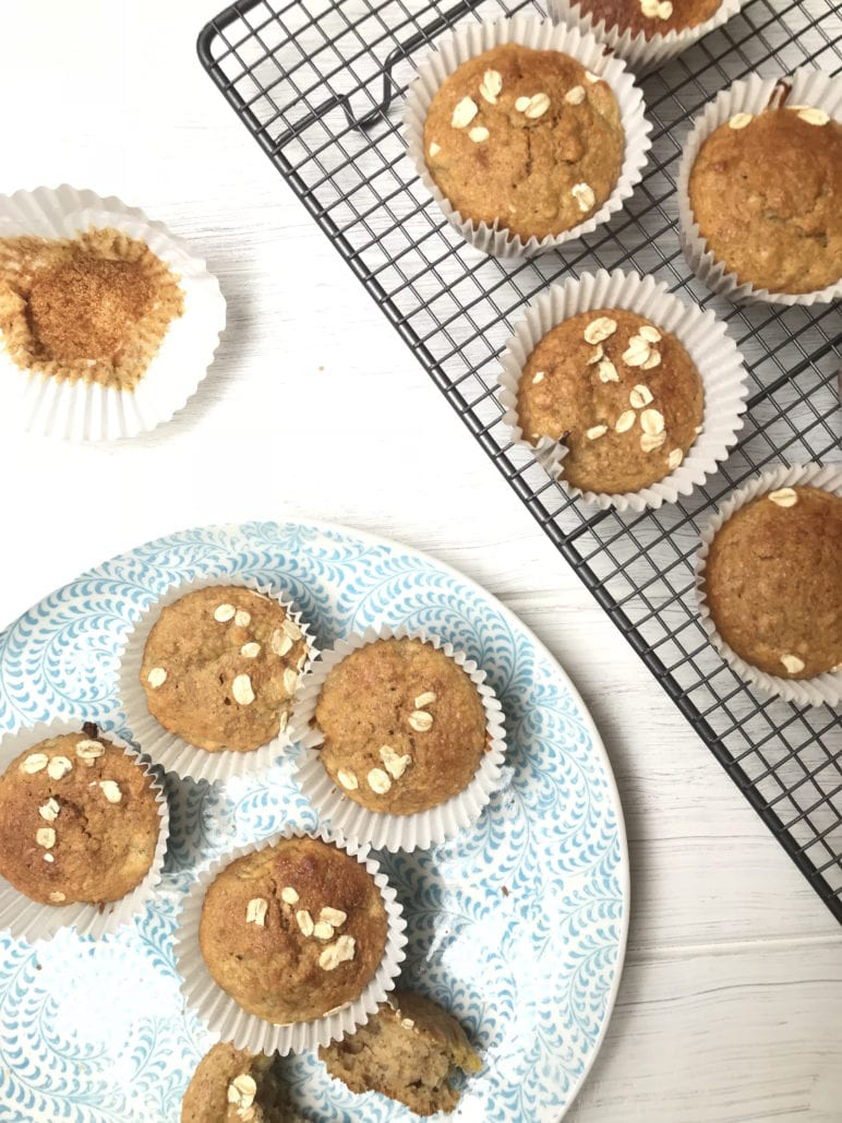 wholegrain lunchbox snack, Lunch box snack: Banana, Chia and Oat Muffins
